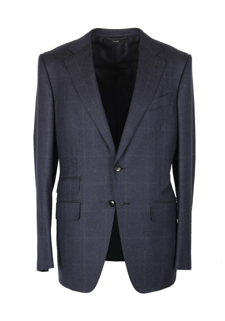 TOM FORD O'Connor Checked Blue Suit Size 48 / 38R U.S. Wool Fit Y - thumbnail | Costume Limité