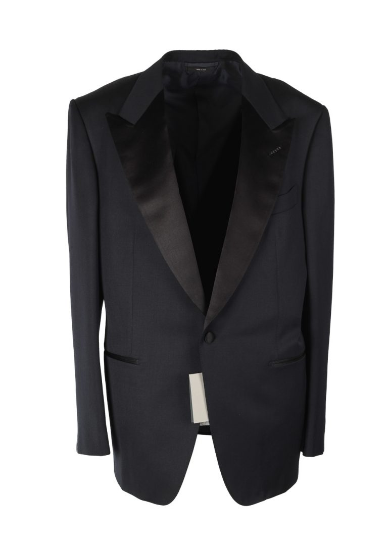 TOM FORD Windsor Midnight Blue Tuxedo Smoking Suit Size 54 / 44R U.S. Fit A - thumbnail | Costume Limité