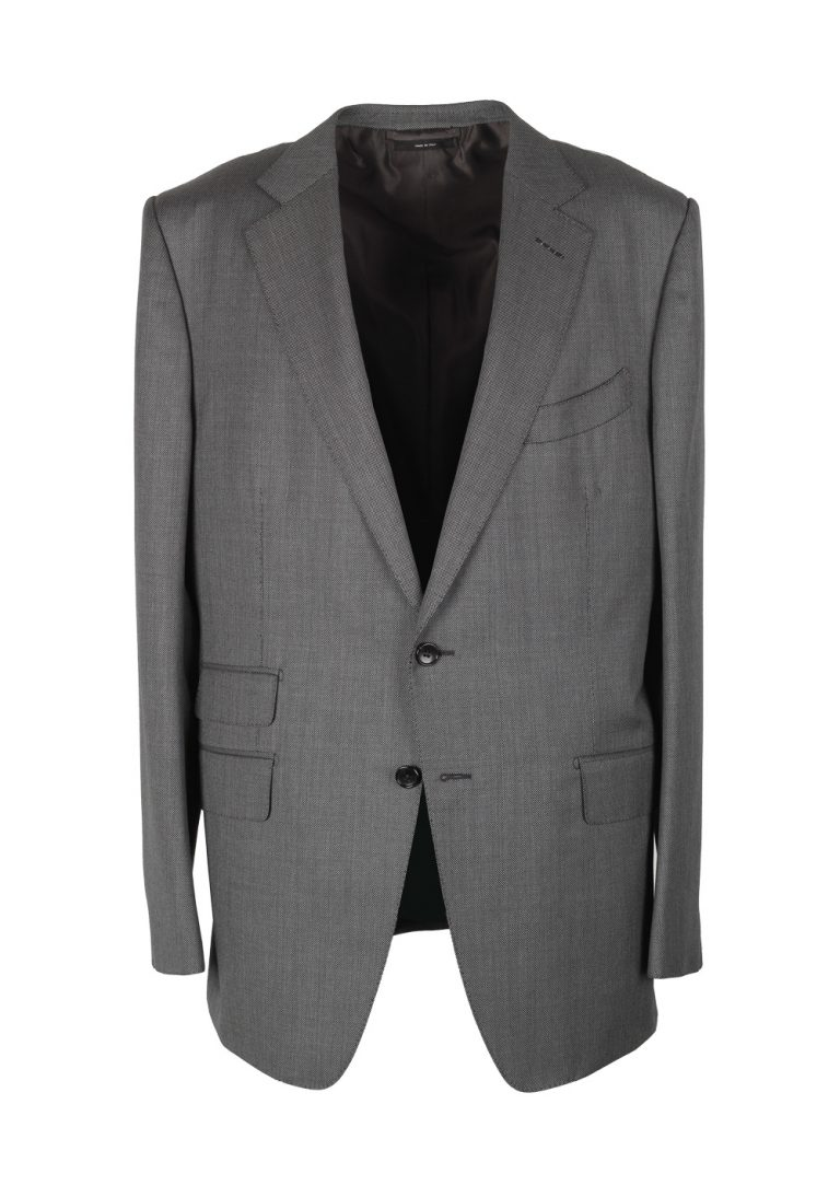 TOM FORD O'Connor Birdseye Gray Suit Size 56 / 46R U.S. Wool Fit Y - thumbnail | Costume Limité