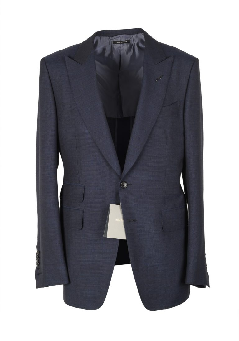TOM FORD Blue Sport Coat Size 48 / 38R U.S. Wool Mohair Basic Base E - thumbnail | Costume Limité