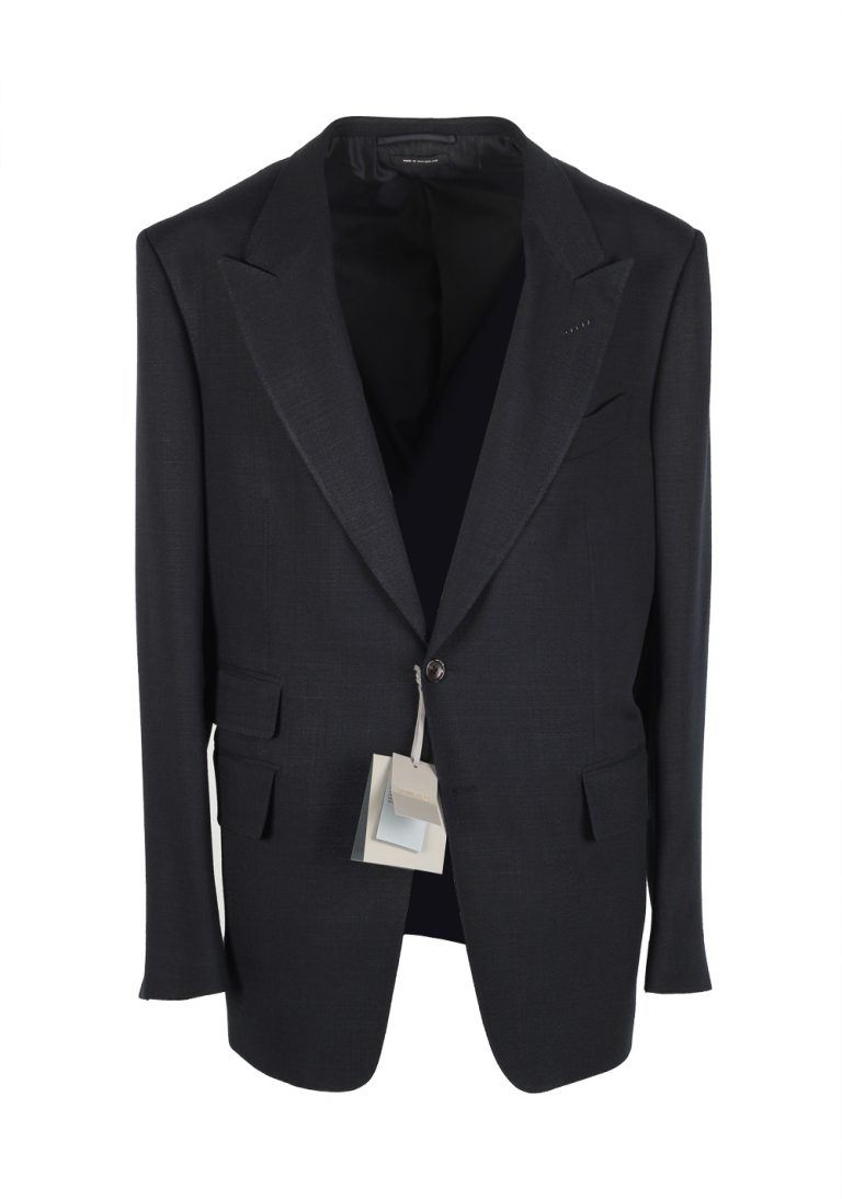 TOM FORD Shelton Navy Sport Coat Size 54 / 44R U.S. Rayon Silk Lining - thumbnail | Costume Limité