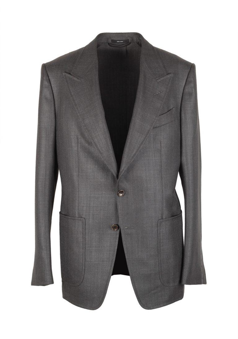 TOM FORD Shelton Gray Sport Coat Size 50 / 40R U.S. Silk Mohair - thumbnail | Costume Limité