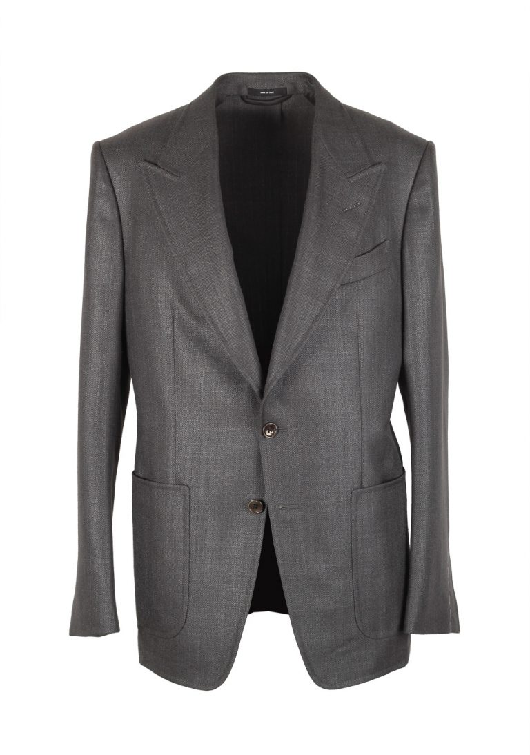TOM FORD Shelton Gray Sport Coat Size 54 / 44R U.S. Silk Mohair - thumbnail | Costume Limité
