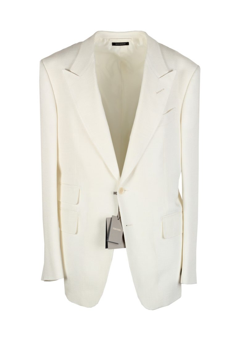 TOM FORD Shelton Off White Sport Coat Size 54 / 44R U.S. Rayon Silk Lining - thumbnail | Costume Limité