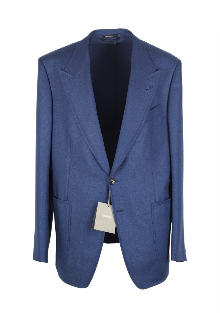 TOM FORD Shelton Blue Sport Coat Size 54 / 44R U.S. Wool Silk And Silk Lining - thumbnail | Costume Limité