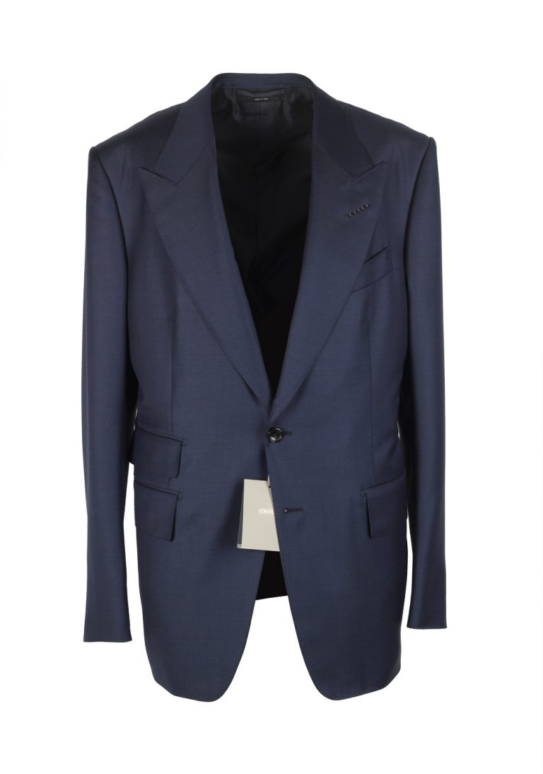TOM FORD Shelton Blue Suit Size 54 / 44R U.S. Wool - thumbnail | Costume Limité