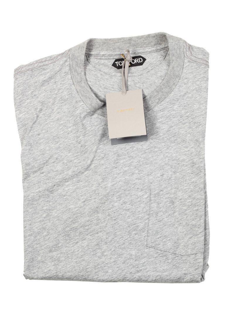TOM FORD Crew Neck Gray Tee Shirt Size 52 / 42R U.S. - thumbnail   Costume Limité