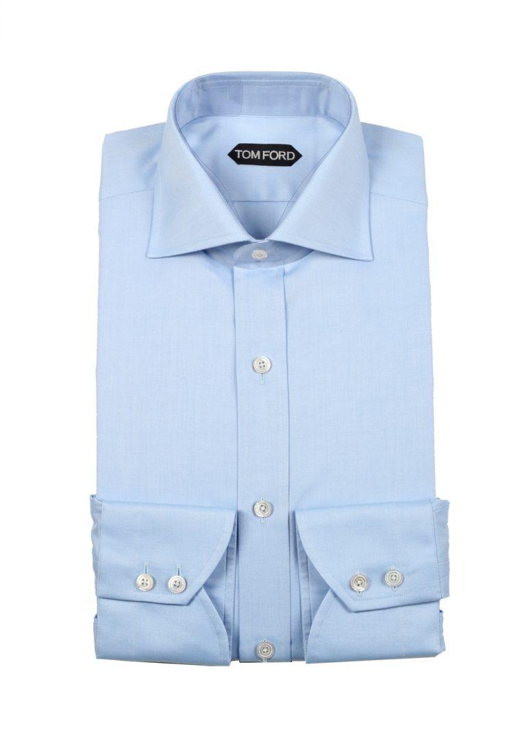 TOM FORD Solid Blue Shirt Size 39 / 15,5 U.S. - thumbnail | Costume Limité