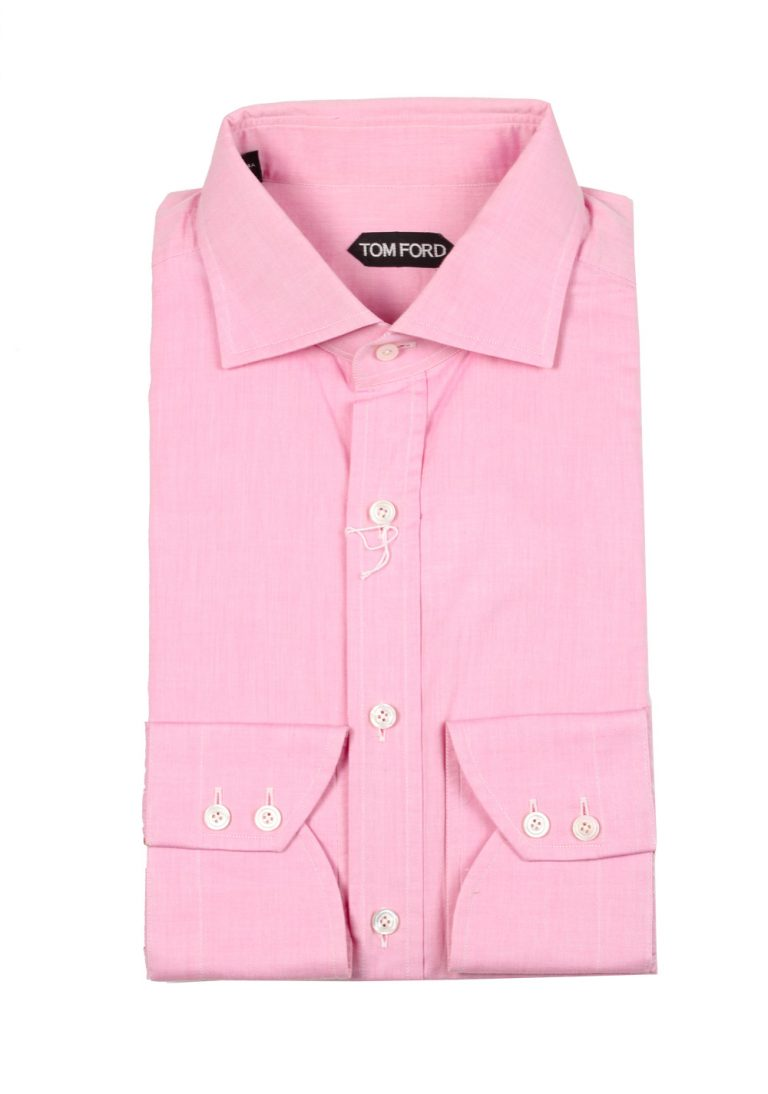 TOM FORD Solid Pink Shirt Size 43 / 17 U.S. - thumbnail | Costume Limité