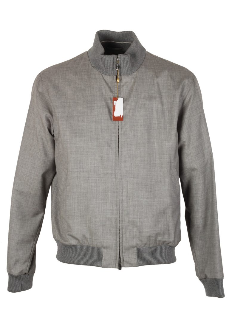 Loro Piana Soulfly Gray Bomber Jack Coat Size M Medium Outerwear In Cashmere Silk - thumbnail | Costume Limité