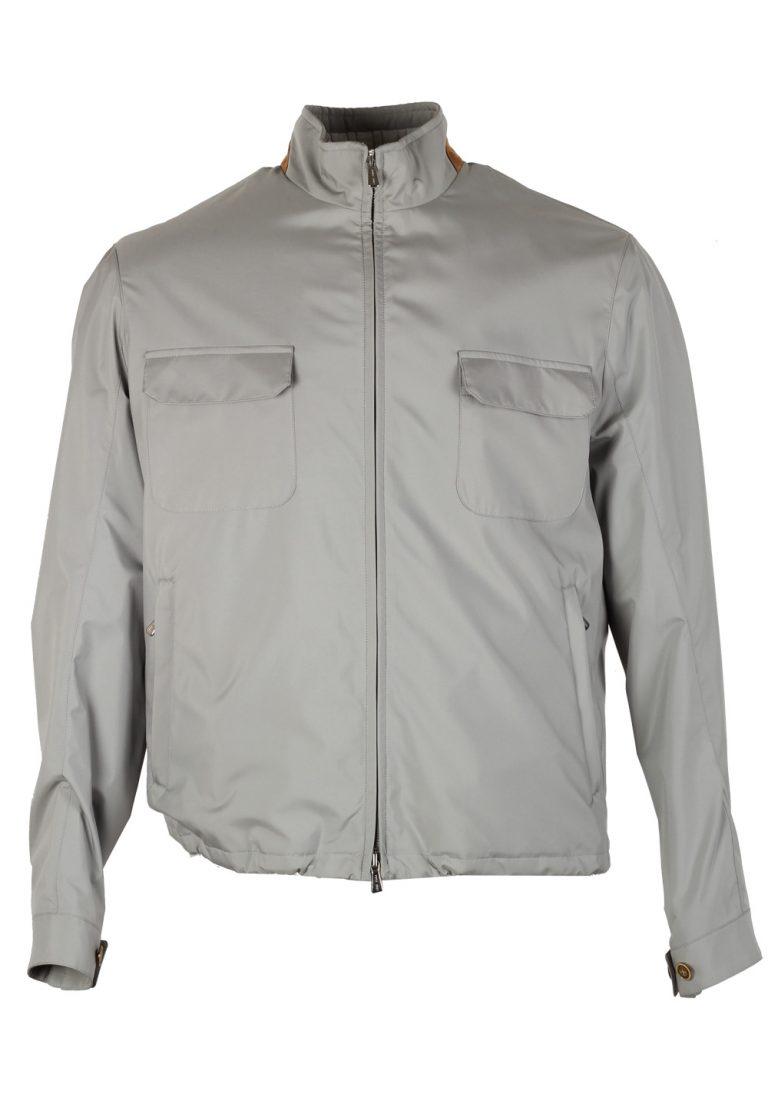 Loro Piana Gray Bomber Jack Storm System Coat Size L Large Outerwear - thumbnail | Costume Limité
