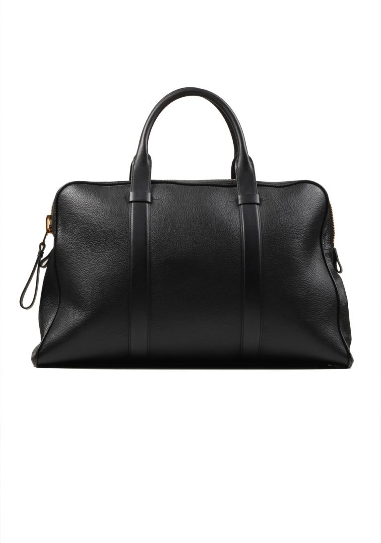 TOM FORD Black Zip Briefcase Bag With Shoulder Strap - thumbnail | Costume Limité