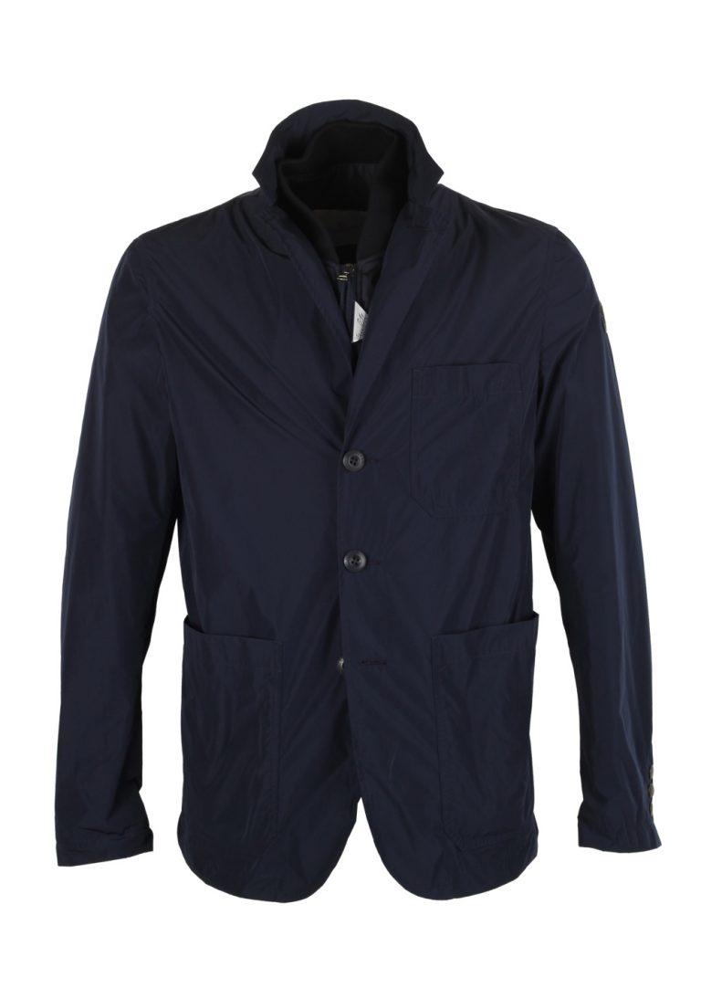 Moncler Navy TITIEN Rain Coat Blazer Size 2 / S / 48 / 38 U.S. - thumbnail | Costume Limité