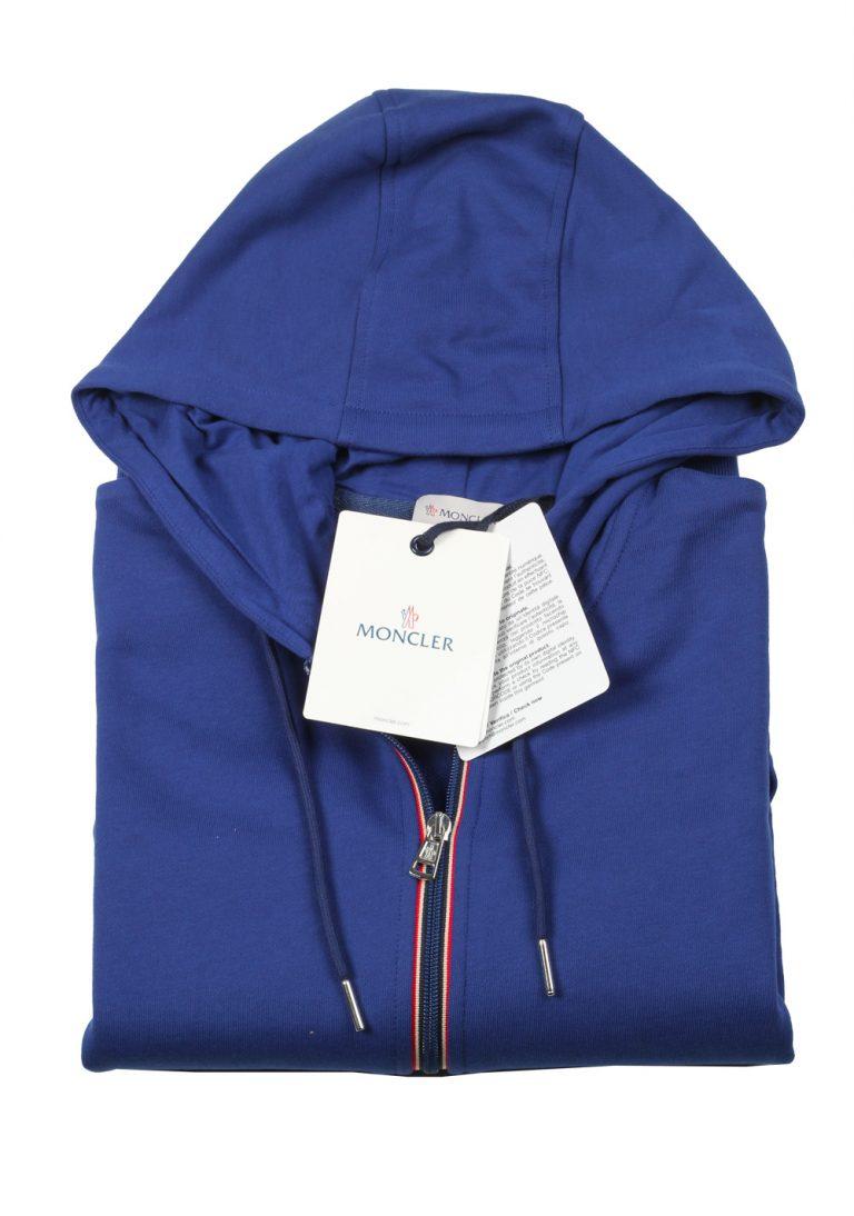 Moncler Blue Sweatshirt Hooded Sweater Size M / 48 / 38 U.S. Cotton - thumbnail | Costume Limité
