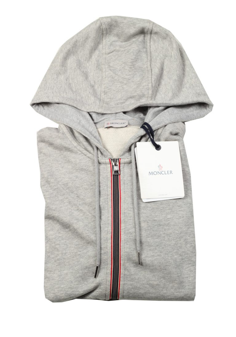 Moncler Gray Sweatshirt Hooded Sweater Size XXL / 56 / 46 U.S. - thumbnail | Costume Limité