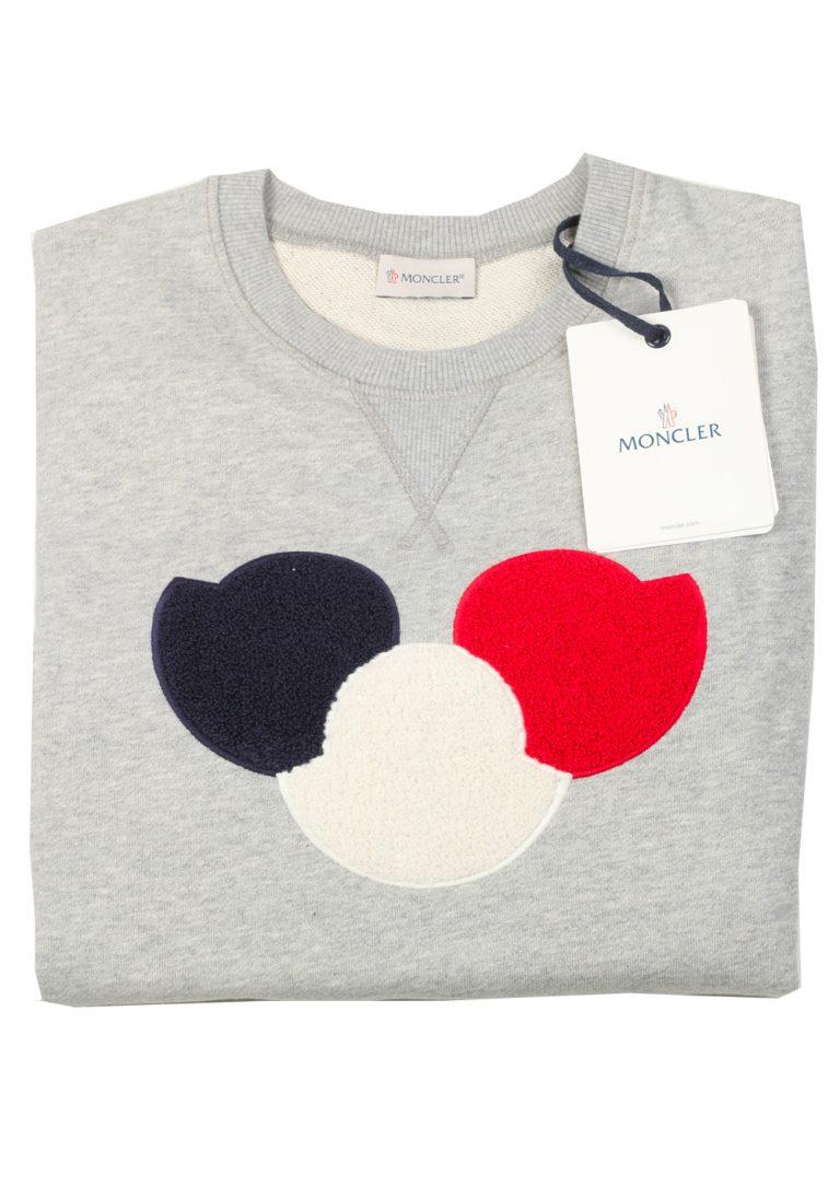 Moncler Gray Sweatshirt Sweater Size XL / 54 / 44 U.S. Cotton - thumbnail | Costume Limité