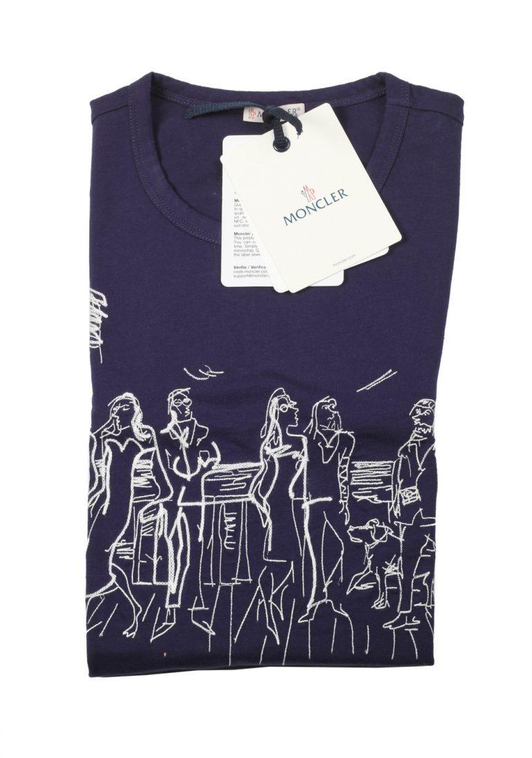 Moncler Navy Crew Neck Tee Shirt Size S / 36R U.S. - thumbnail | Costume Limité