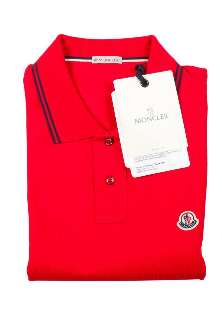Moncler Red Polo Shirt Size L / 40R U.S. - thumbnail | Costume Limité