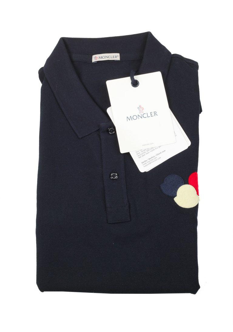 Moncler Navy Polo Shirt Size L / 40R U.S. Navy - thumbnail | Costume Limité