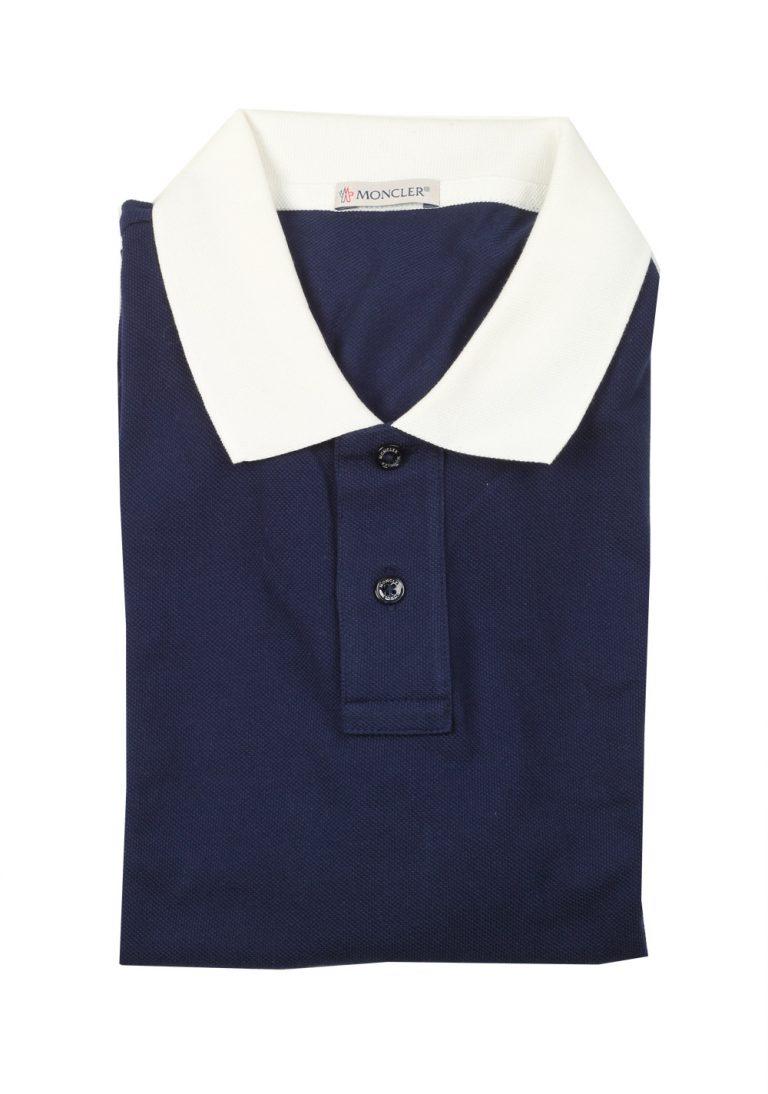 Moncler Navy Polo Shirt Size M / 38R U.S. - thumbnail | Costume Limité