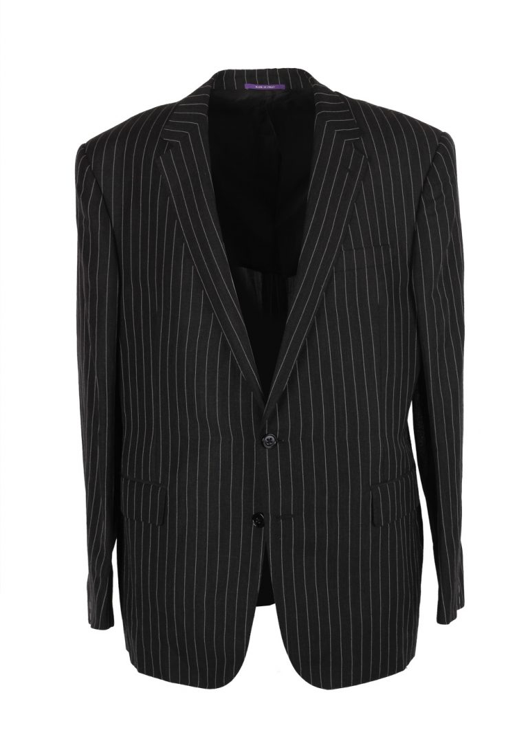 Ralph Lauren Purple Label Charcoal Suit Size 56 / 46R U.S. In Linen Wool - thumbnail | Costume Limité