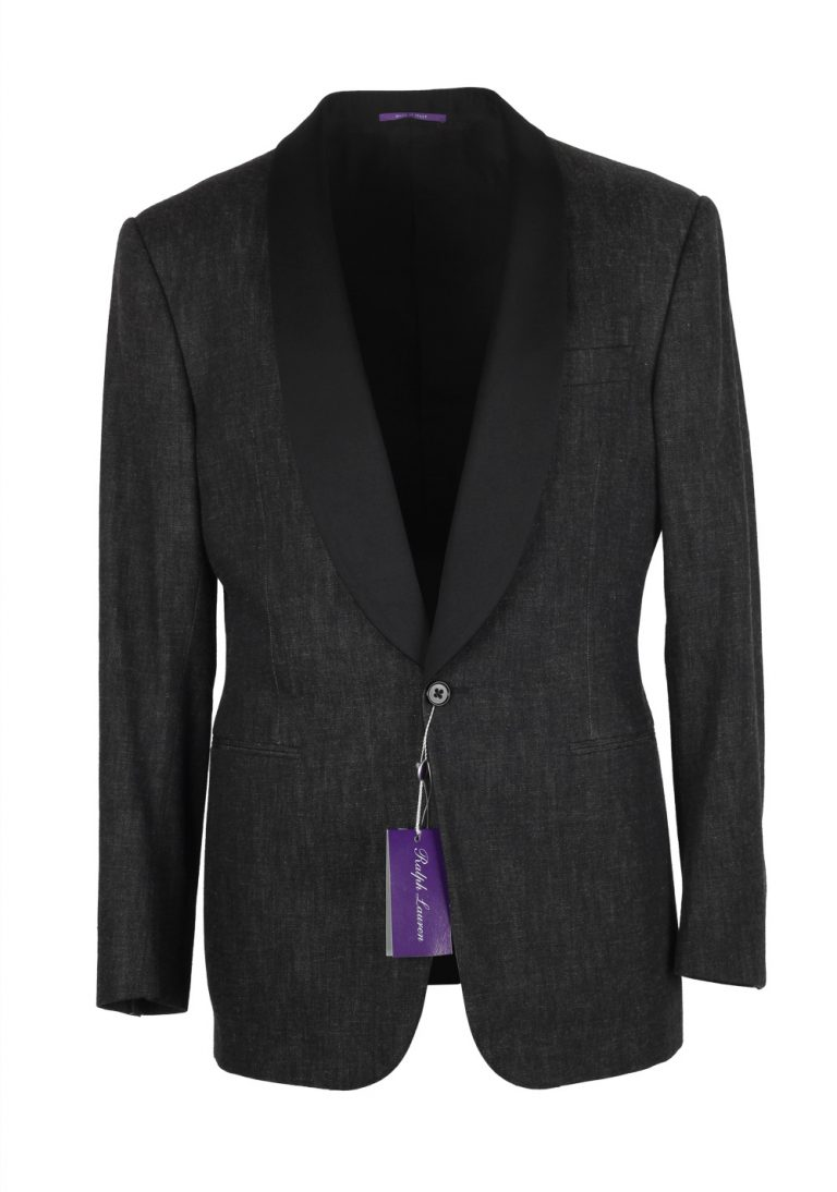 Ralph Lauren Purple Label Charcoal Denim Tuxedo Size 54L / 44L U.S. In Cotton - thumbnail | Costume Limité