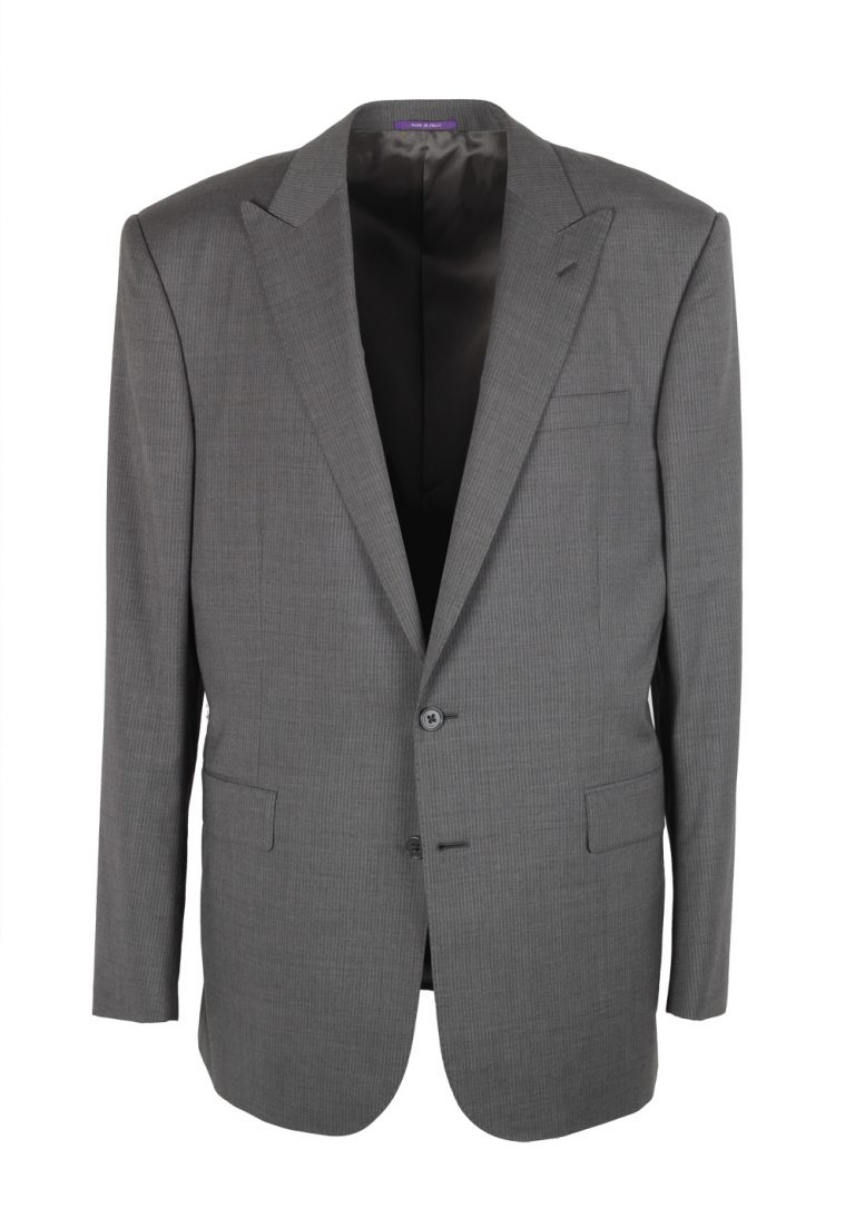 Ralph Lauren Purple Label Gray Suit Size 54L / 44L U.S. In Wool - thumbnail | Costume Limité