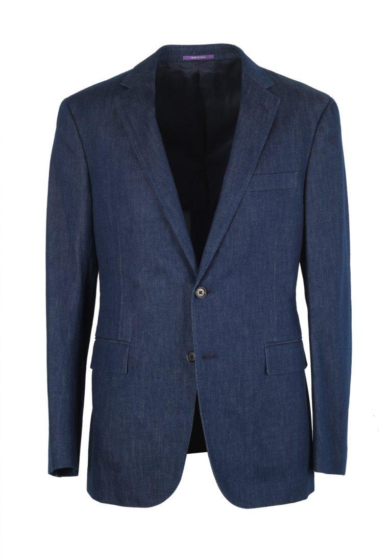 Ralph Lauren Purple Label Sport Blue Denim Sport Coat Size 48 / 38R U.S. In Cotton - thumbnail | Costume Limité
