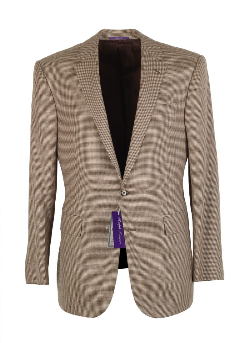 Ralph Lauren Purple Label Brown Sport Coat Size 52 / 42R U.S. In Wool Silk Linen - thumbnail | Costume Limité