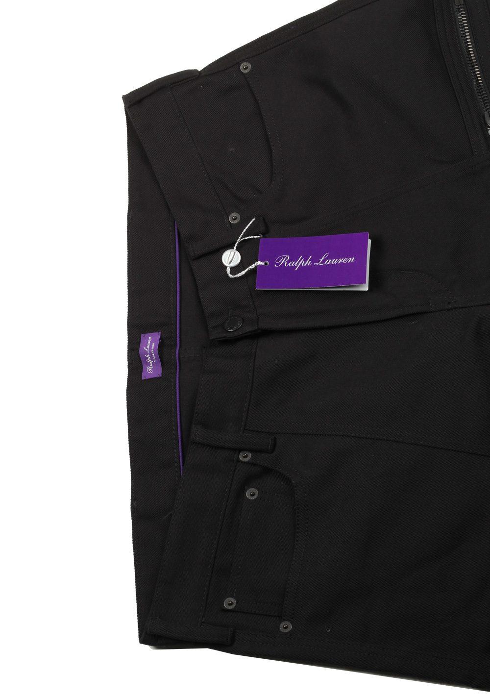Ralph Lauren Purple Label Black Cargo Moto Jeans Size 50 / 34 U.S. | Costume Limité