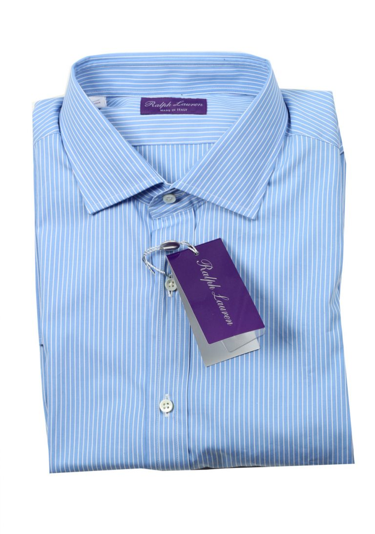 Ralph Lauren Purple Label Blue Striped Shirt Size 44 / 17.5 U.S. - thumbnail | Costume Limité