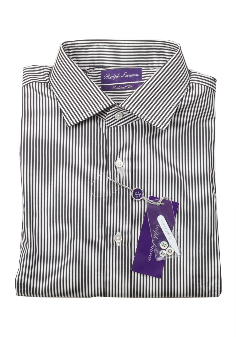 Ralph Lauren Purple Label Tailored Fit Blue Striped Shirt Size 42 / 16.5 U.S. - thumbnail | Costume Limité