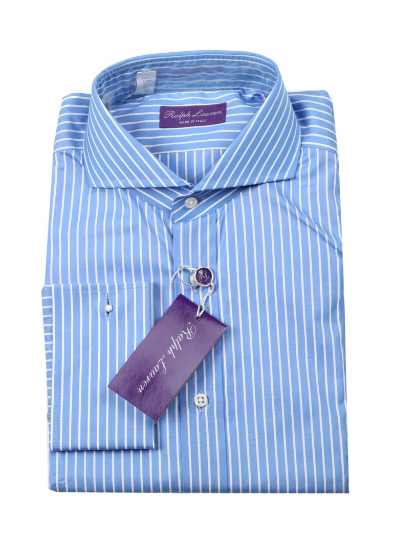 Ralph Lauren Purple Label Blue Striped Shirt Size 38 / 15 U.S. - thumbnail | Costume Limité