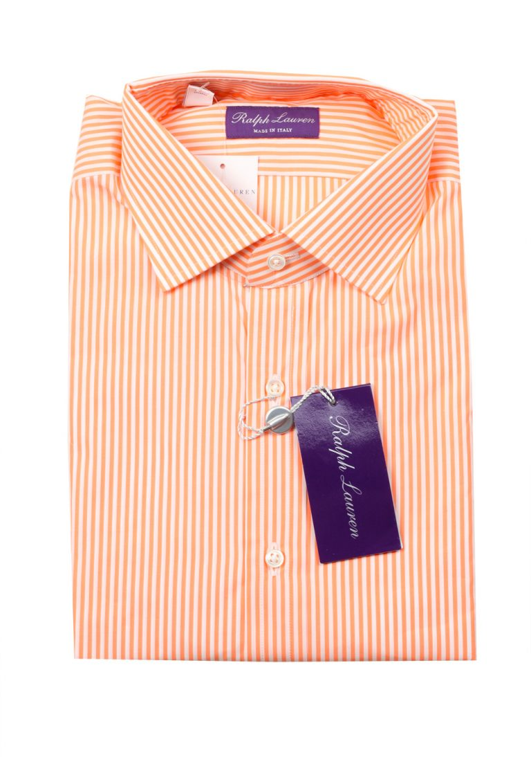 Ralph Lauren Purple Label Orange Striped Shirt Size 38 / 15 U.S. - thumbnail | Costume Limité