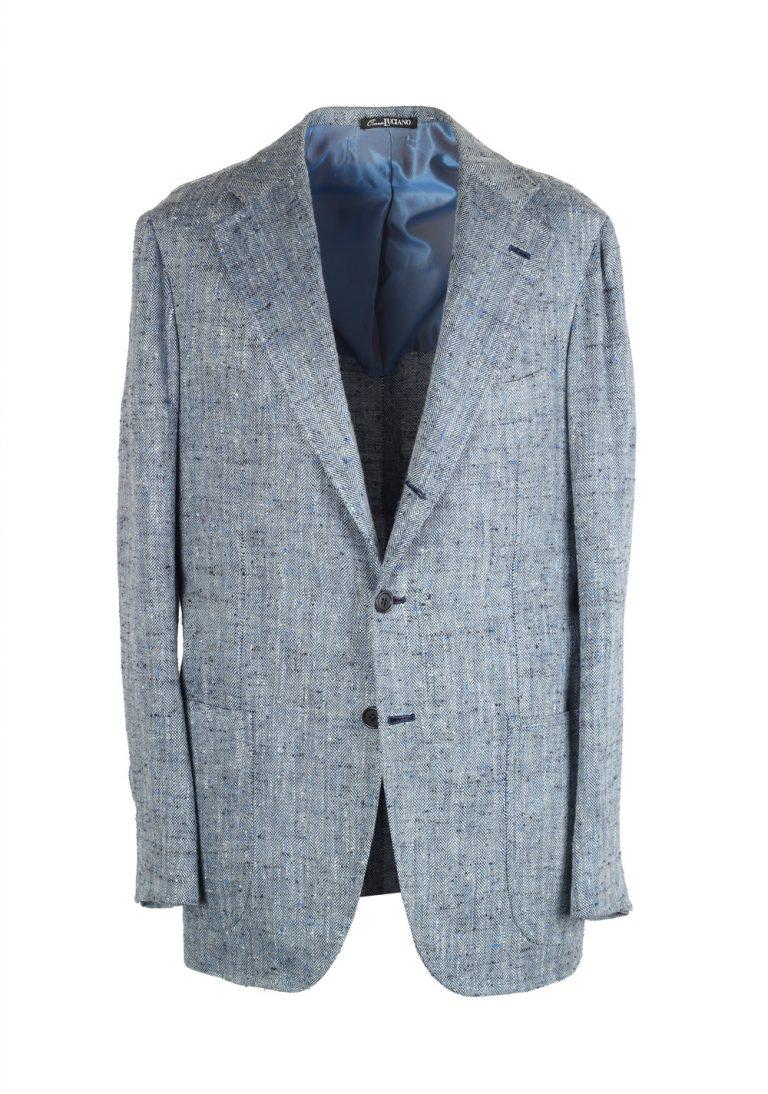 Orazio Luciano Blue Sport Coat Size 50 / 40R U.S. In Linen Silk - thumbnail | Costume Limité