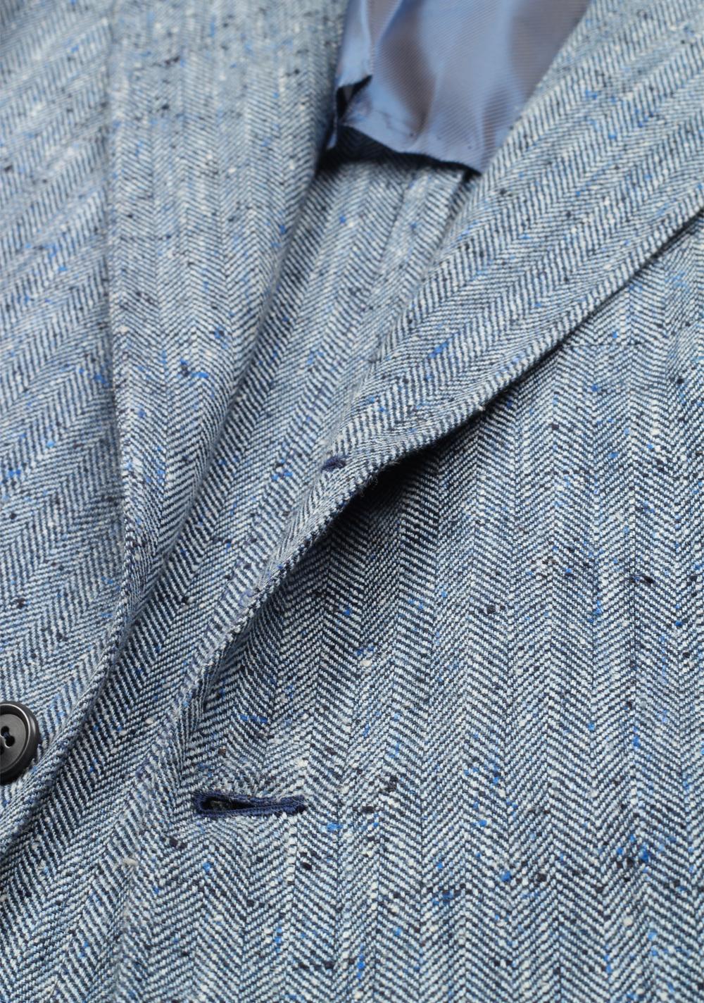 Orazio Luciano Blue Sport Coat Size 50 / 40R U.S. In Linen Silk   Costume Limité