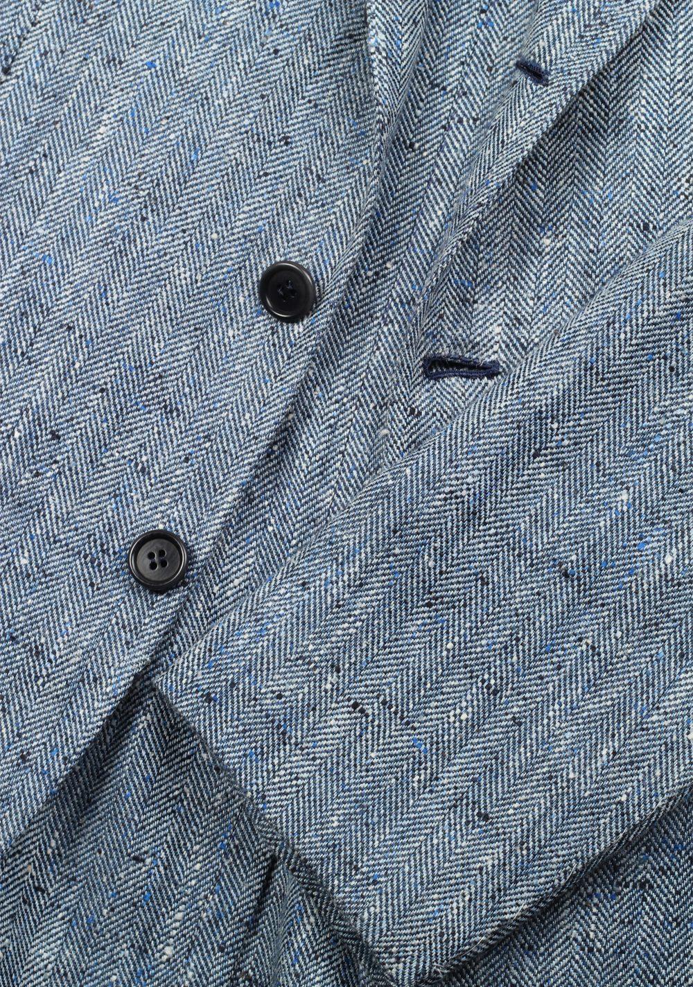 Orazio Luciano Blue Sport Coat Size 50 / 40R U.S. In Linen Silk | Costume Limité