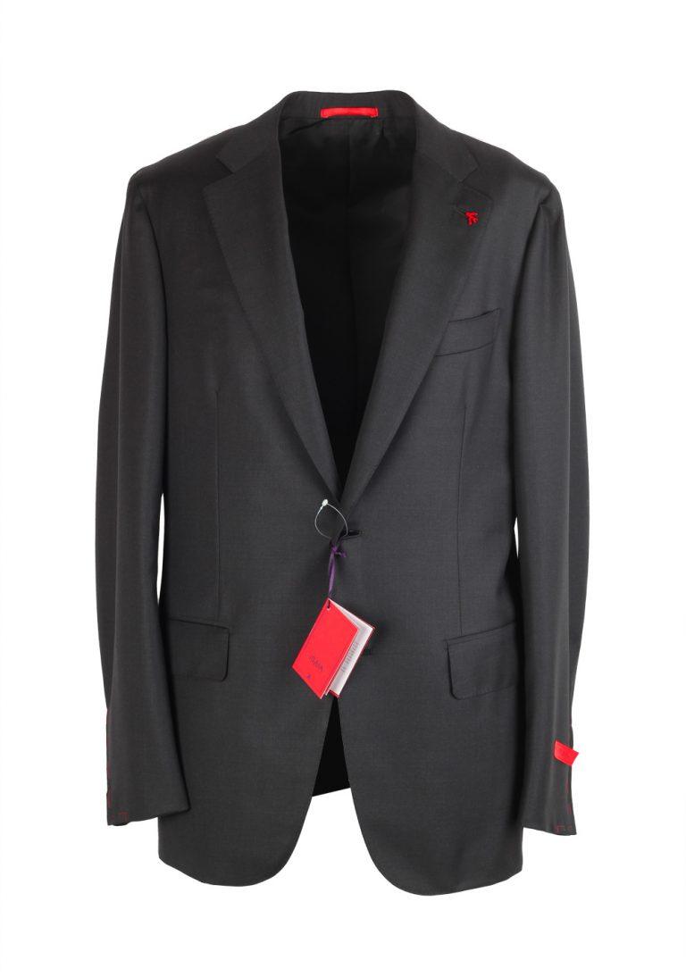 Isaia Napoli Charcoal Suit Size 50 / 40R U.S. Aquaspider Base Amalfi - thumbnail | Costume Limité