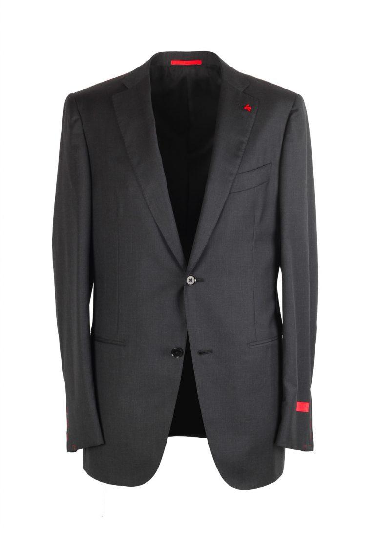 Isaia Napoli Charcoal Suit Size 48L / 38LR U.S. Super 130s Base Tribeca - thumbnail | Costume Limité