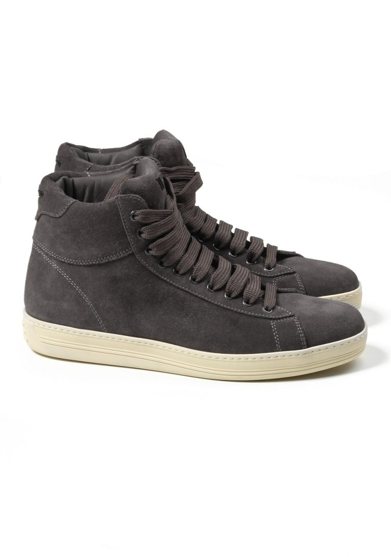 TOM FORD Russel High Top Gray Suede Sneaker Shoes Size 9 Uk / 10 U.S. - thumbnail | Costume Limité