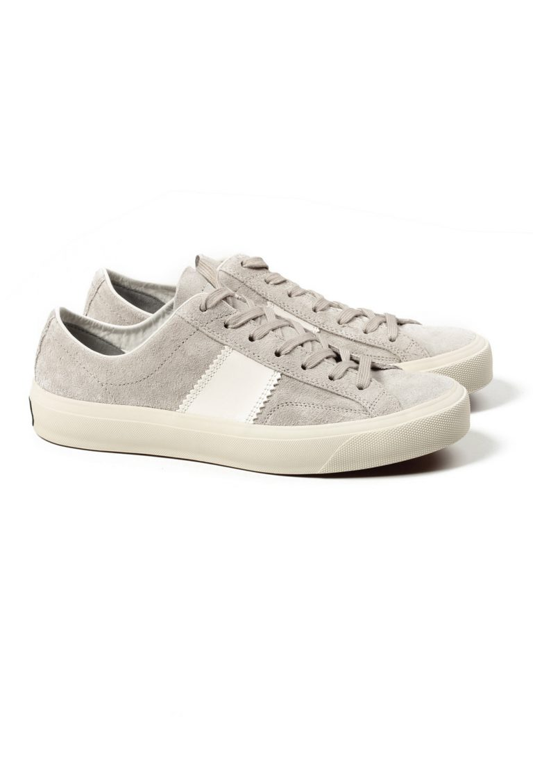 TOM FORD Cambridge Lace Up Gray Suede Sneaker Shoes Size 8,5 UK / 9,5 U.S. - thumbnail | Costume Limité