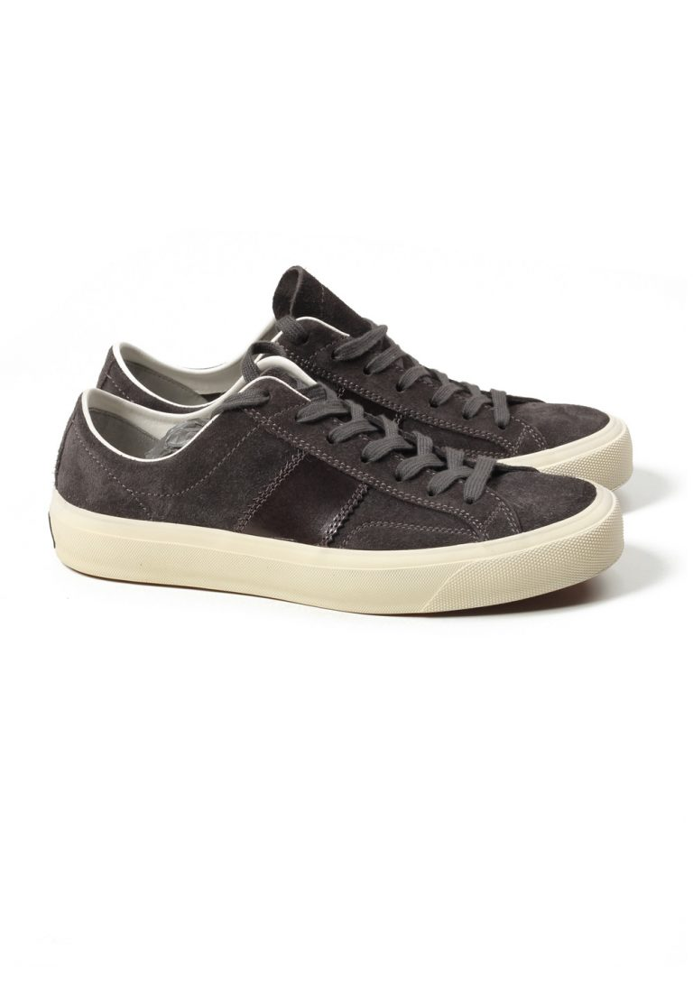 TOM FORD Cambridge Lace Up Dark Gray Suede Sneaker Shoes Size 7 UK / 8 U.S. - thumbnail | Costume Limité