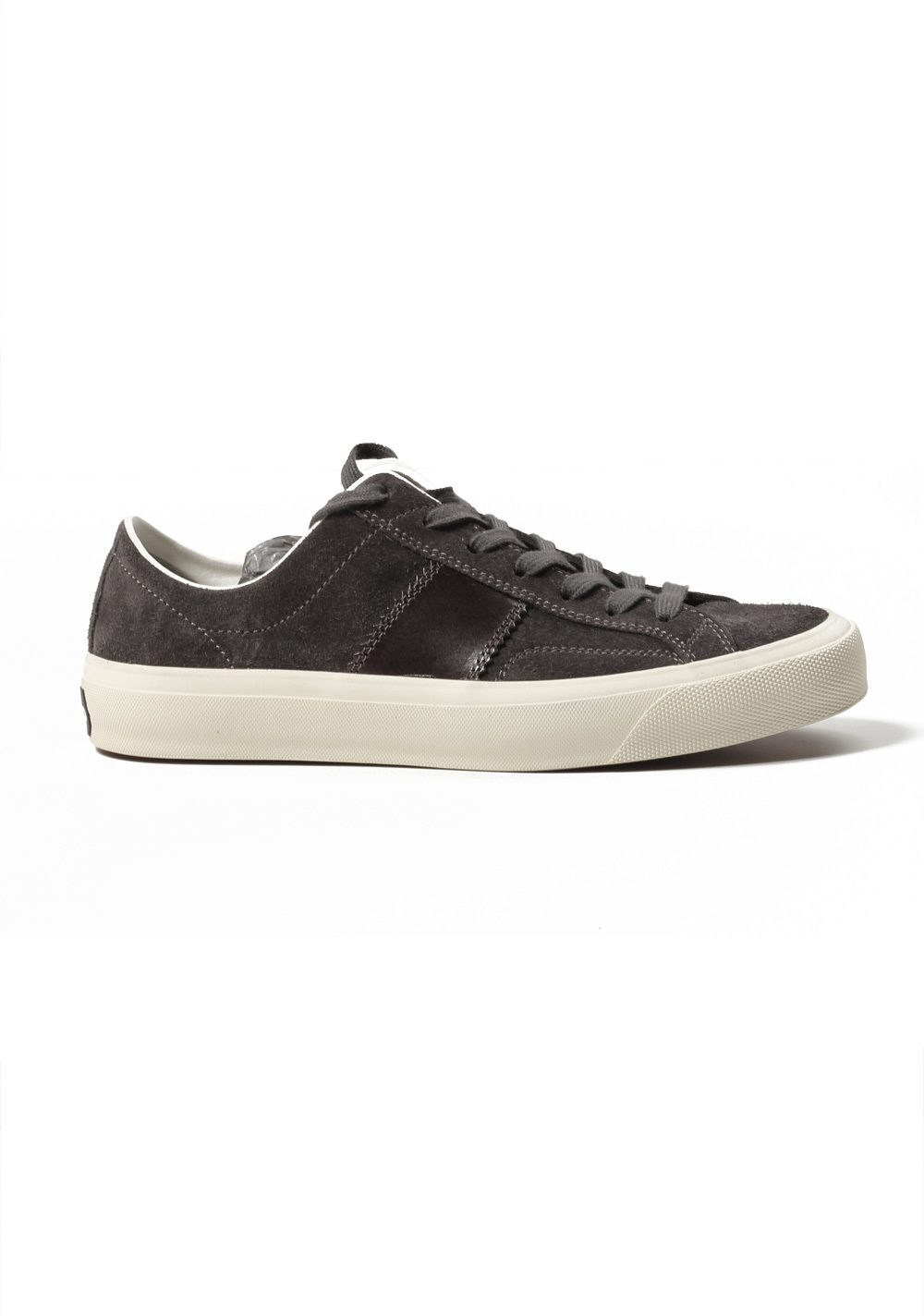 TOM FORD Cambridge Lace Up Dark Gray Suede Sneaker Shoes Size 8 UK / 9 U.S. | Costume Limité