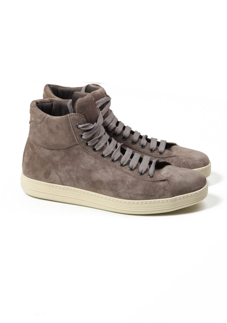 TOM FORD Russel High Top Taupe Suede Sneaker Shoes Size 10 UK / 11 U.S. - thumbnail | Costume Limité