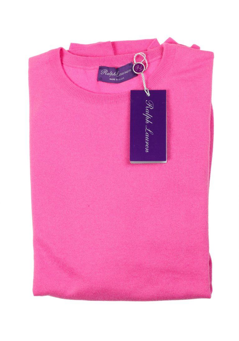 Ralph Lauren Purple Label Pink Crew Neck Sweater Size L / 52 / 42 U.S. In Cashmere - thumbnail | Costume Limité