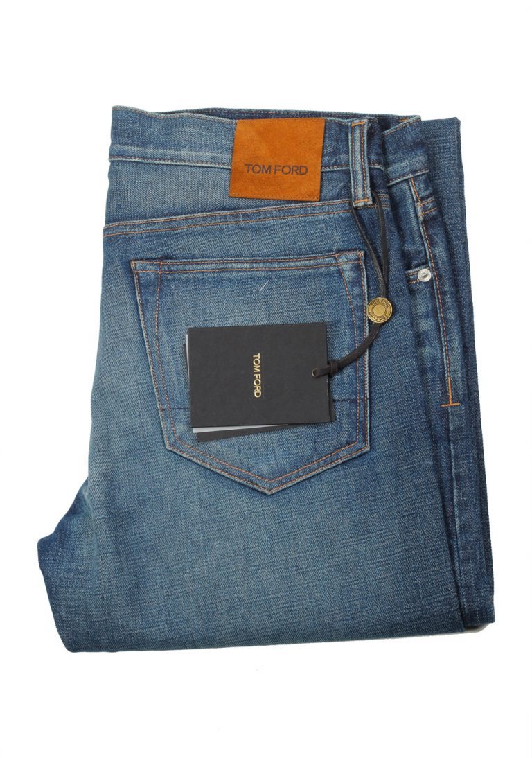 TOM FORD Blue Slim Fit Jeans TFD001 Size 50 / 34 U.S. - thumbnail   Costume Limité