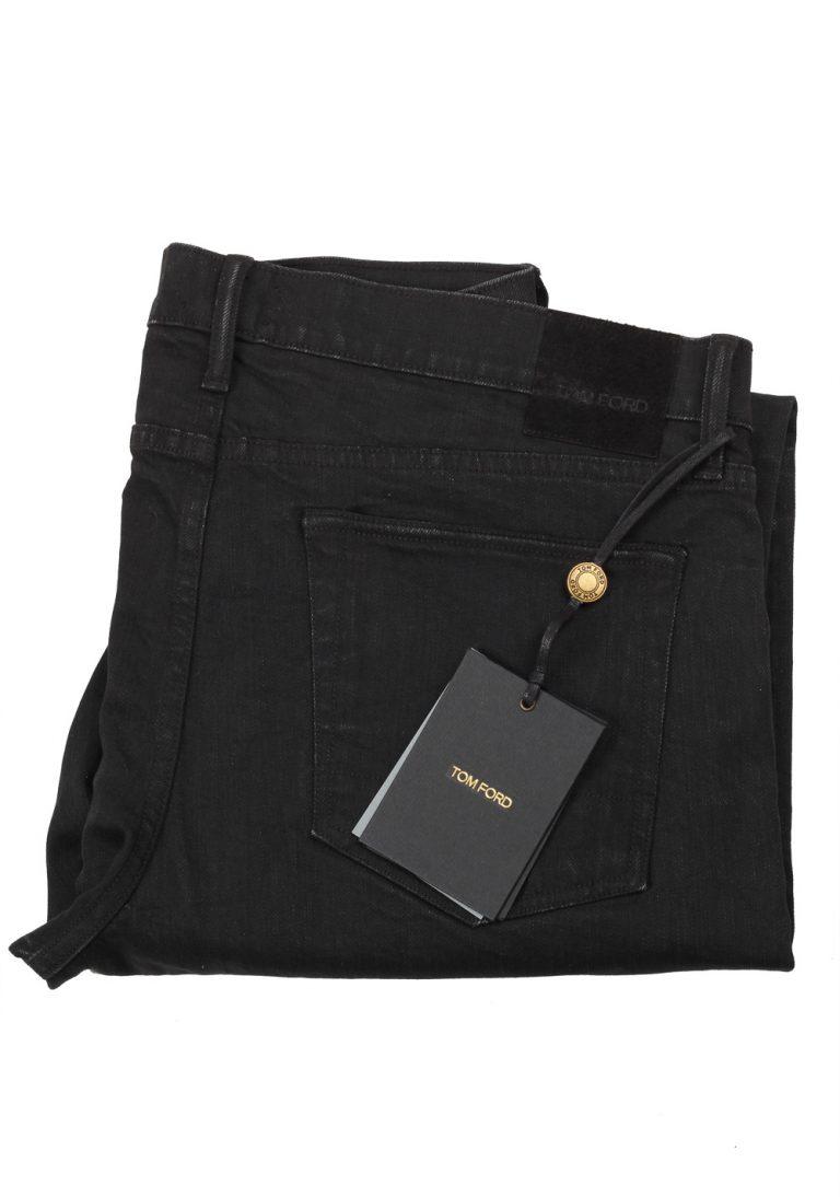 TOM FORD Black Slim Fit Jeans TFD001 Size 54 / 38 U.S. - thumbnail   Costume Limité