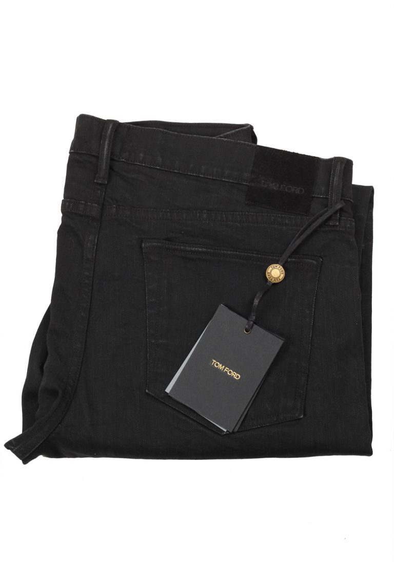TOM FORD Black Slim Fit Jeans TFD001 Size 56 / 40 U.S. - thumbnail | Costume Limité