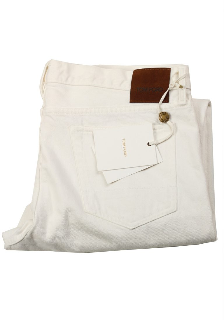 TOM FORD White Slim Fit Jeans TFD001 Size 56 / 40 U.S. - thumbnail | Costume Limité