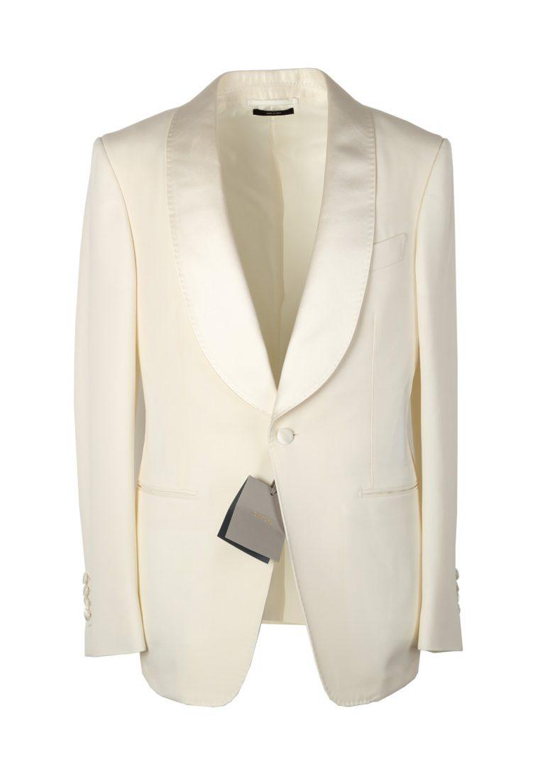 TOM FORD Shelton Shawl Collar Ivory Sport Coat Tuxedo Dinner Jacket Size 46 / 36R U.S. - thumbnail | Costume Limité